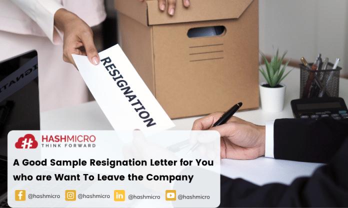 Resignation letter is