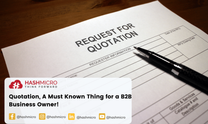 Quotation, A Must Known Thing for a B2B Business Owner!