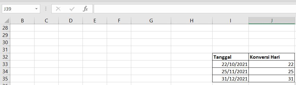 Excel Formula: DAY (2)