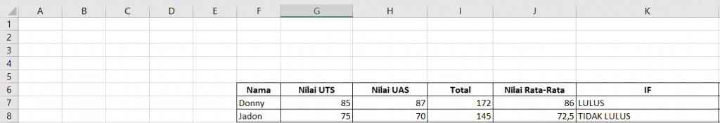 Excel Formula: Single IF 2
