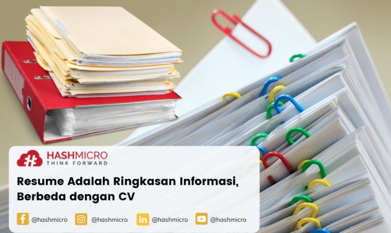 Resume Adalah Ringkasan Informasi, Berbeda dengan CV